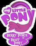 Fanart - MLP. My Little Pony Logo - Berry Punch
