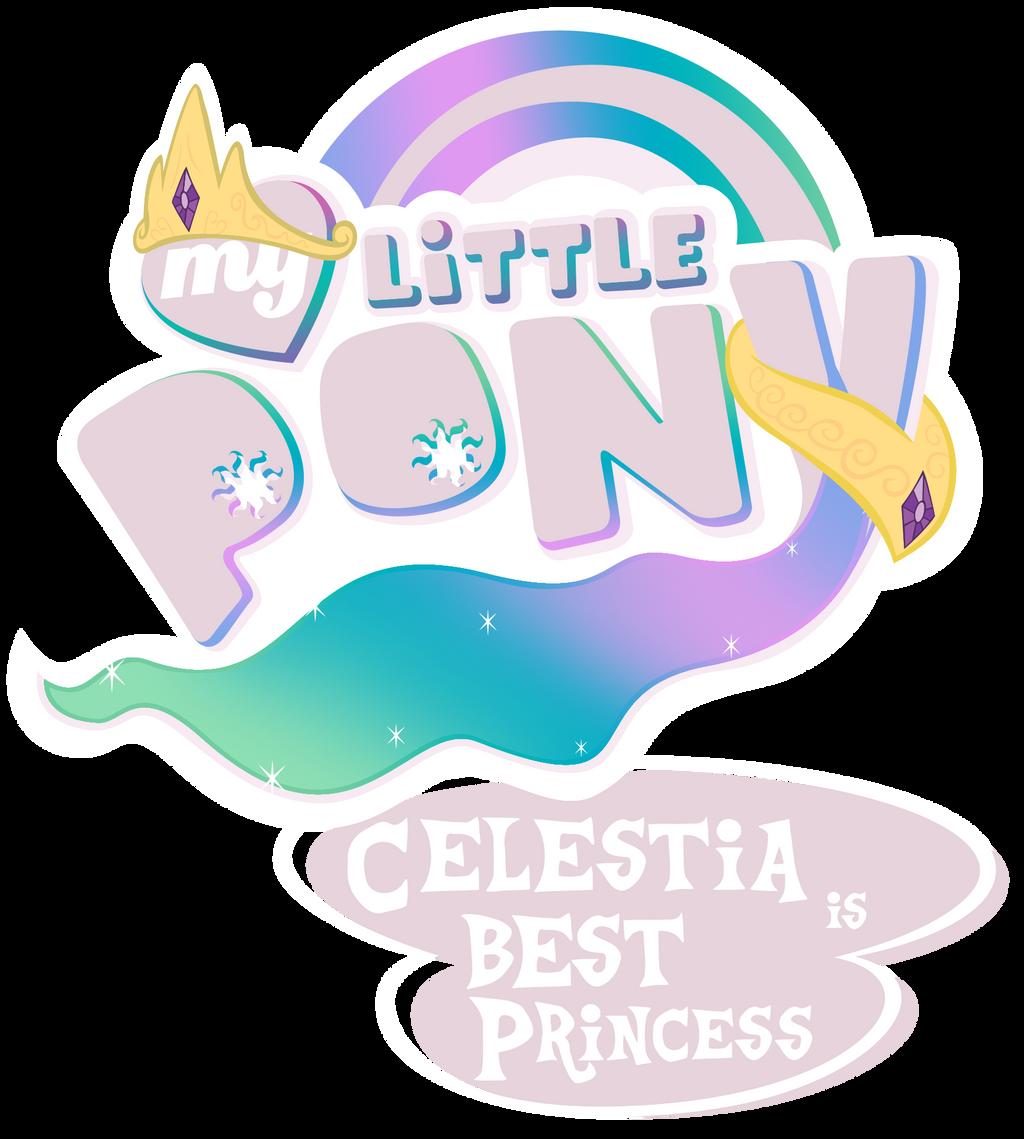 Fanart - MLP. My Little Pony Logo - Celestia by jamescorck