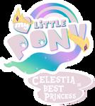 Fanart - MLP. My Little Pony Logo - Celestia