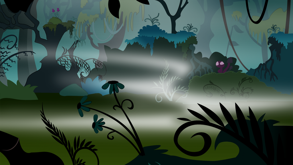 BACKGROUNDS - Everfree Forest - Night 00