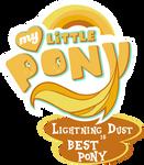 MLP. My Little Pony Logo - Lightning Dust