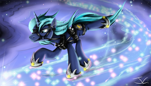 Fanart - MLP. Sliding Moonlight