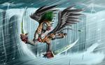 Fanart - MLP. Xormak the Gryphon