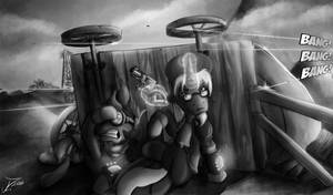 Fanart - MLP. Wasteland Shoot-out