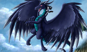 Fanart - MLP. Movie the Dragon Jockey