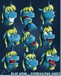 Artwork - Blue Nova, Expressions Sheet