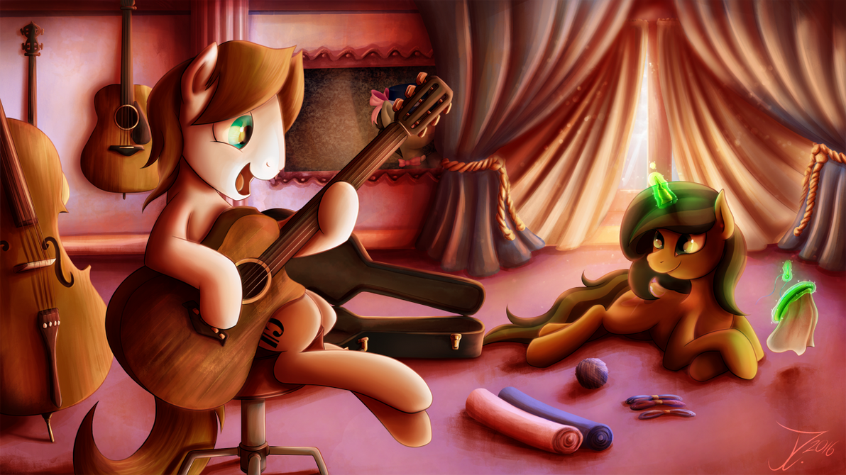 Birthday Commission. The Music Pone by jamescorck