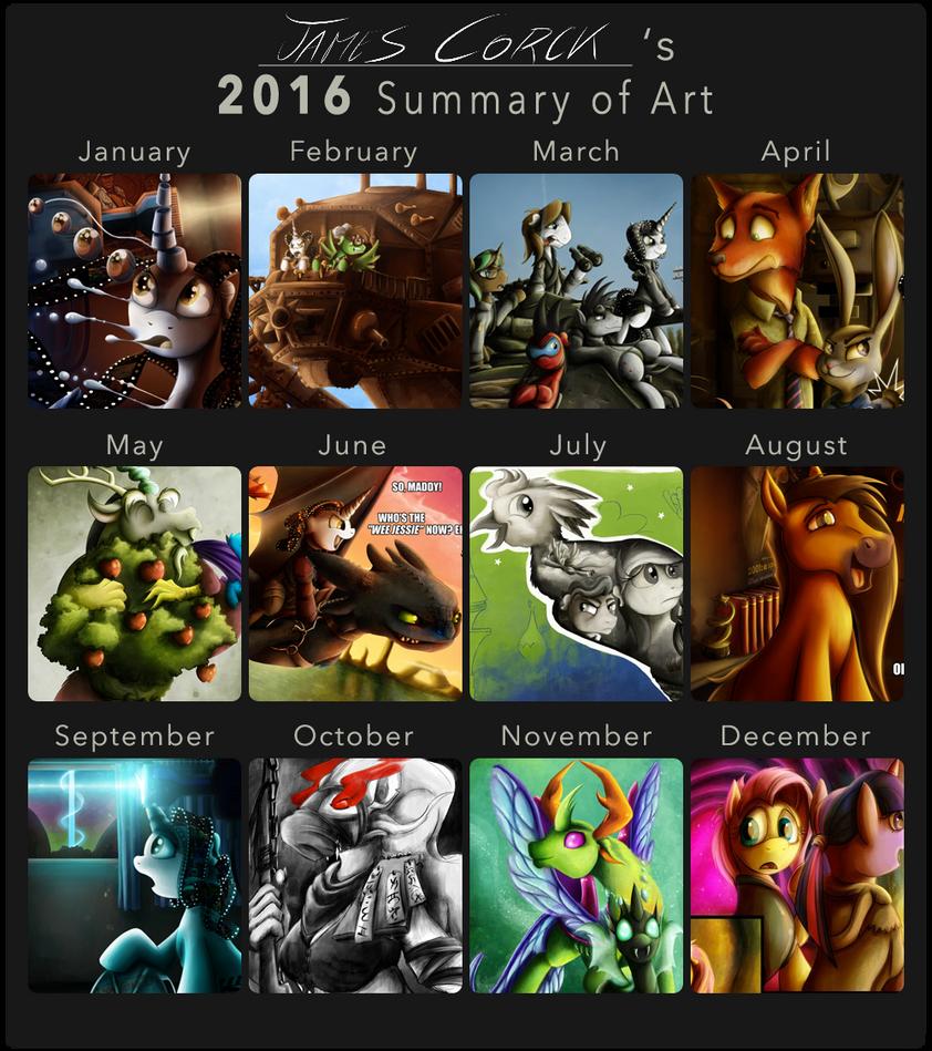 James Corck's Art Summary - 2016 by jamescorck