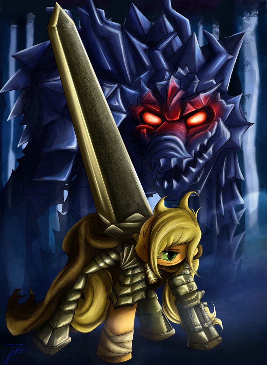 Fanart - MLP. The Black Swordsmare