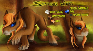 Reference Sheet - Spring Wind (Cougar Pony)