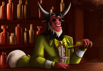 Fanart - MLP. Season 9, Tirek the Bartender by jamescorck