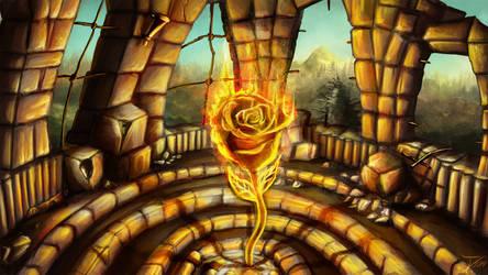 Artwork - A Rose on Fire (Album Cover)