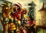 Fanart - MLP. Dragon Squad by jamescorck