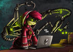Fanart - MLP. Tech Priest Applebloom by jamescorck