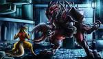 Artwork - Bangaa VS Brute by jamescorck
