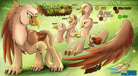 Reference Sheet. Shatara Neproyic (Griffon)