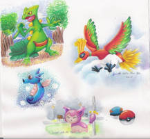 Pokemon Doodle Dump by dragonwarriorsgalore