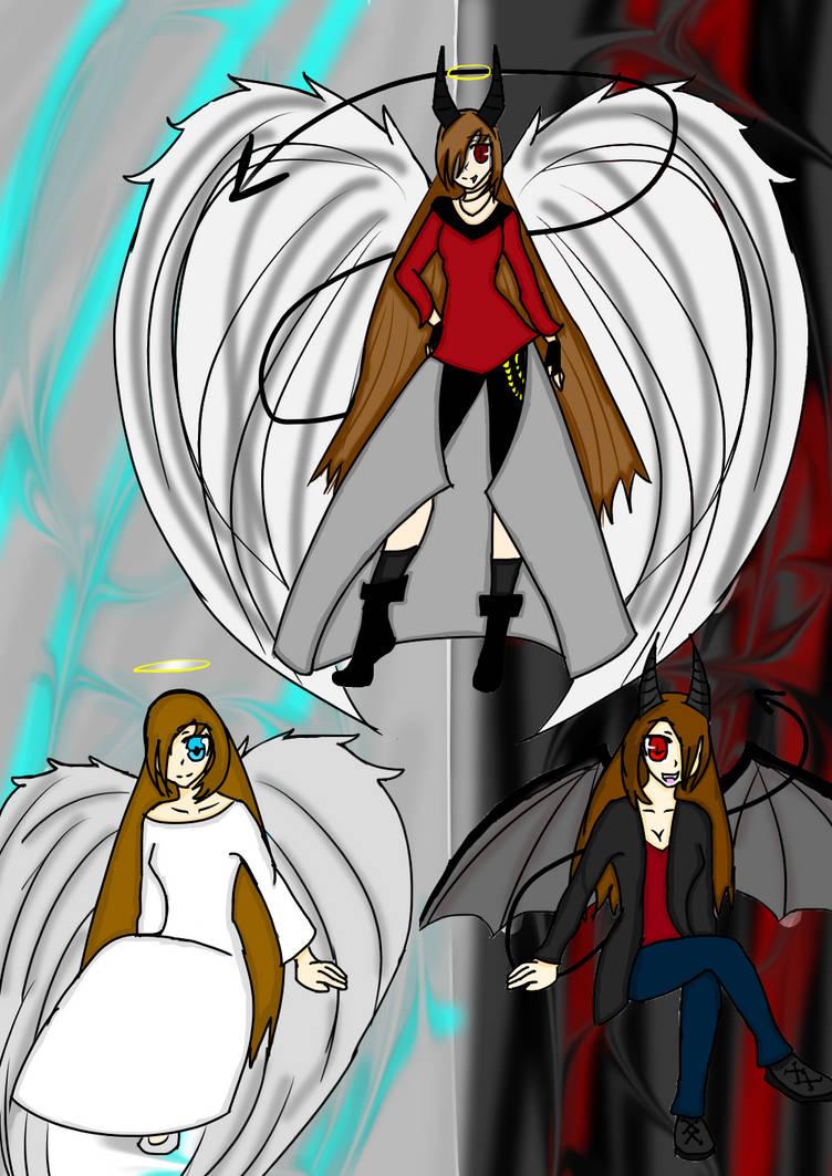 Angel Demon Hybrid By Izzyfox0415