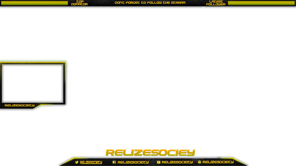 Twitch overlay with webcam relizesociety by TheGFunkGFX on DeviantArt