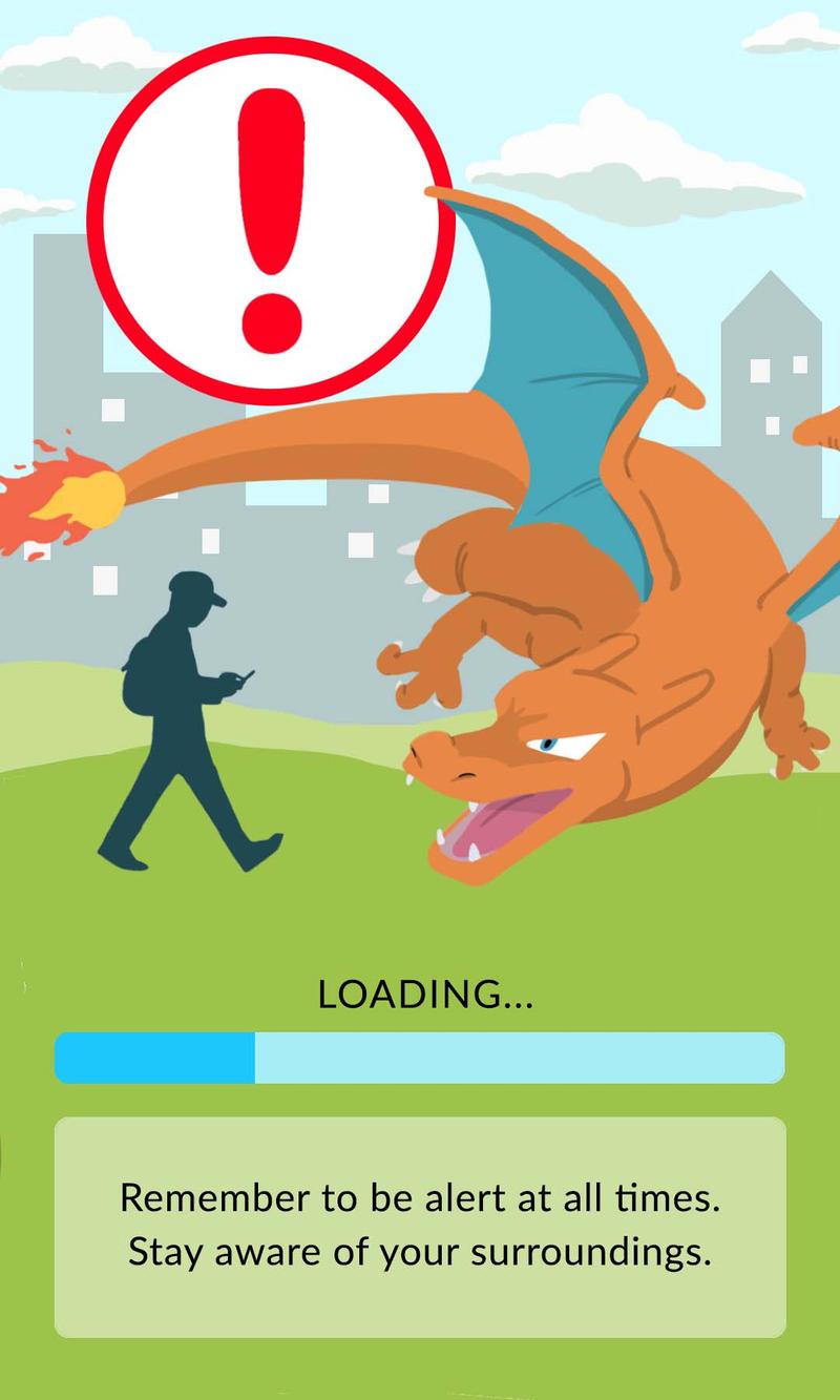 Pokemon Go Warning Charizard 624647317
