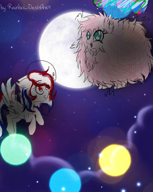 Kate and Fluffle Puff by RainbowDashhh69