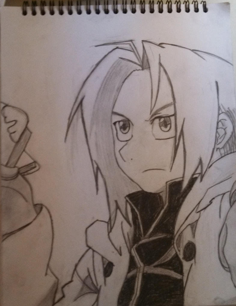 Edward Elric (head shot) by pegisisterswag