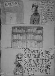Daily-life of an Amatuer Skeleton Writer #19 by Silencedbook9