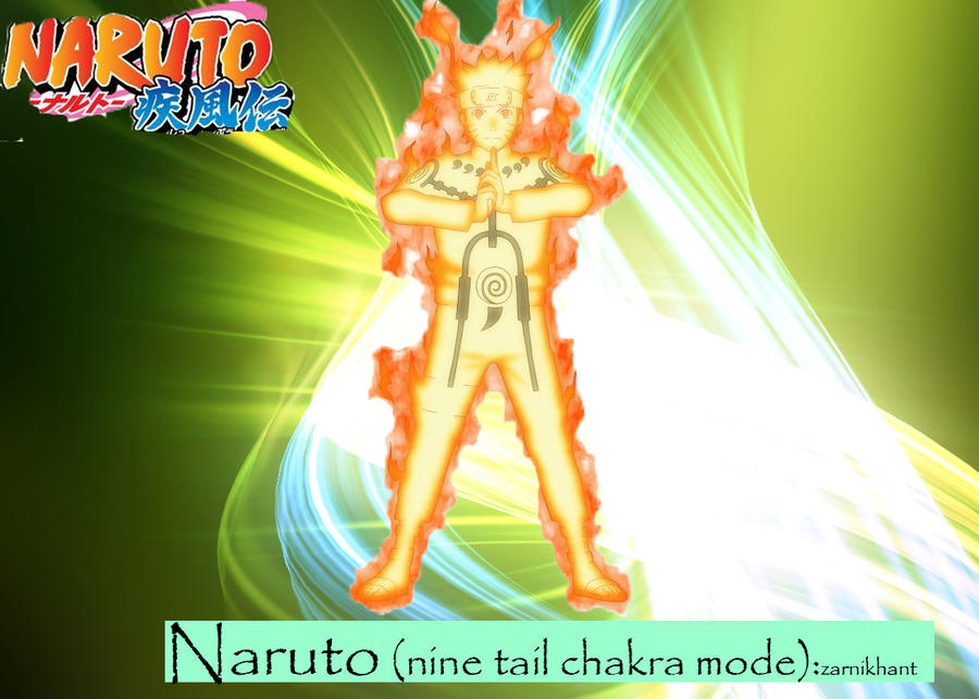 Naruto ( nine tail chakra mode ) by zarnikhant on DeviantArt