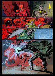 Dr Doom vs Mephisto by the-sketchman