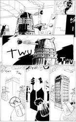 The master vs the Daleks by the-sketchman