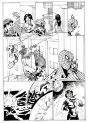 spiderman page1 by the-sketchman