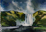 Sketch in gouache. Iceland