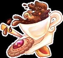 What a fancy coffe bean! by MelNathea