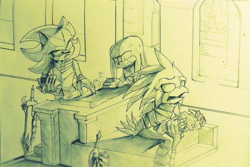 SATBK- Knight talk - Lancelot, Lamorak, and Gawain by Deimonday