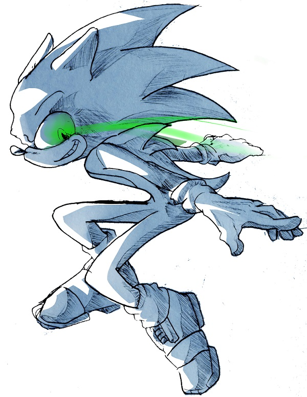 Inktober 1: Fast - Sonic the Hedgehog - by Deimonday