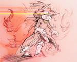 Inktober 18: Escape - Blaze -