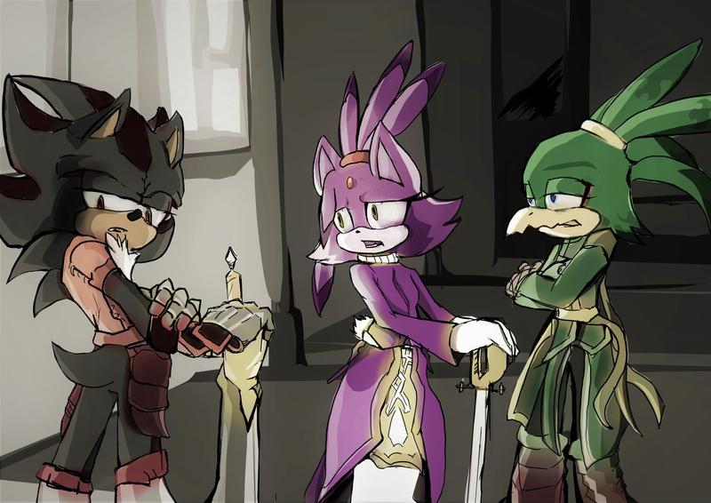 SATBK - Knight talk - Lancelot, Lamorak, Percival by Deimonday