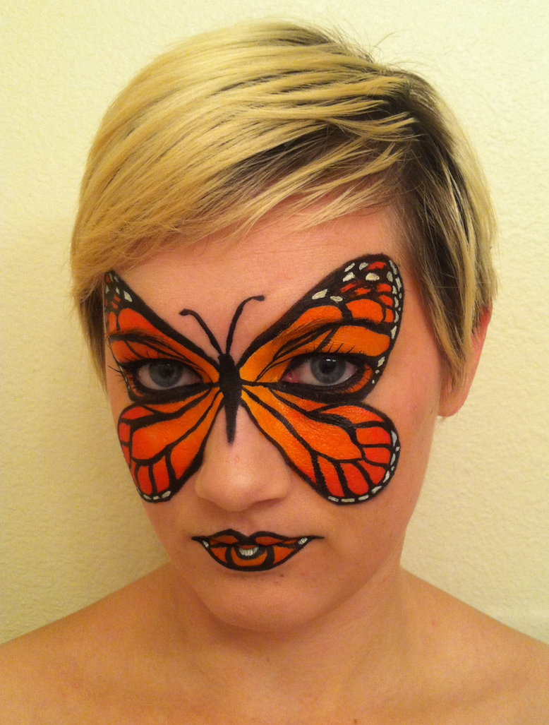 Face Painting Butterflies Step By Step
