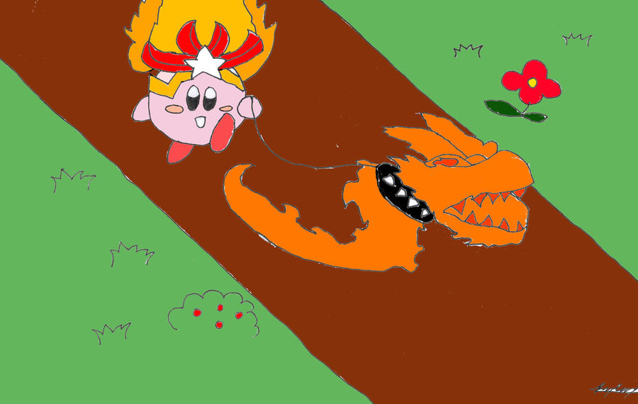 Kirby - Monster Flame? or Monster Pet? by ActionStar00 on ...