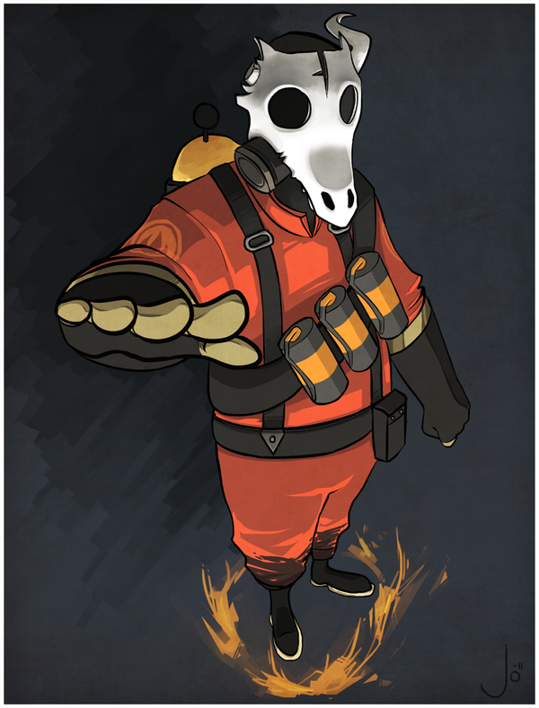 comm - pyromancer's mask by Qurugu