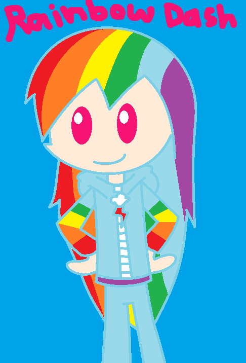Human rainbow dash by jesh02