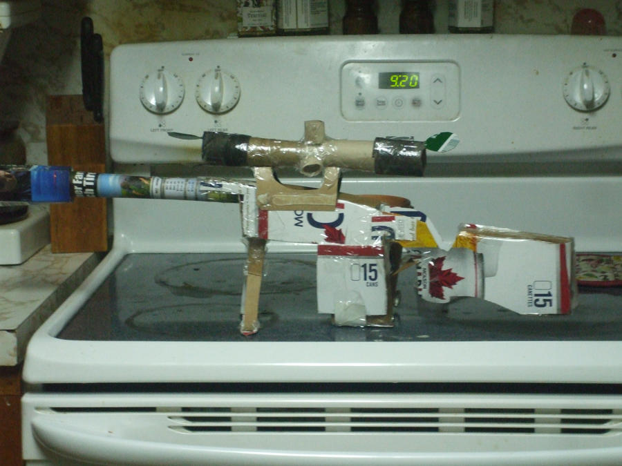 how to make a gun out of cardboard