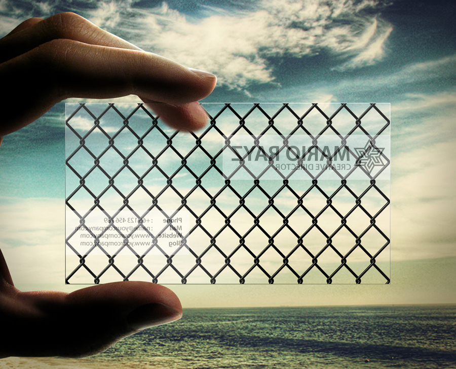 Transparent Business card by Lemongraphic