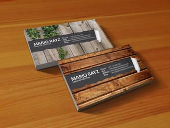 Peeling business card