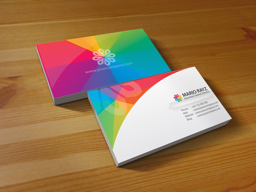 Rainbow petals business card by Lemongraphic on DeviantArt