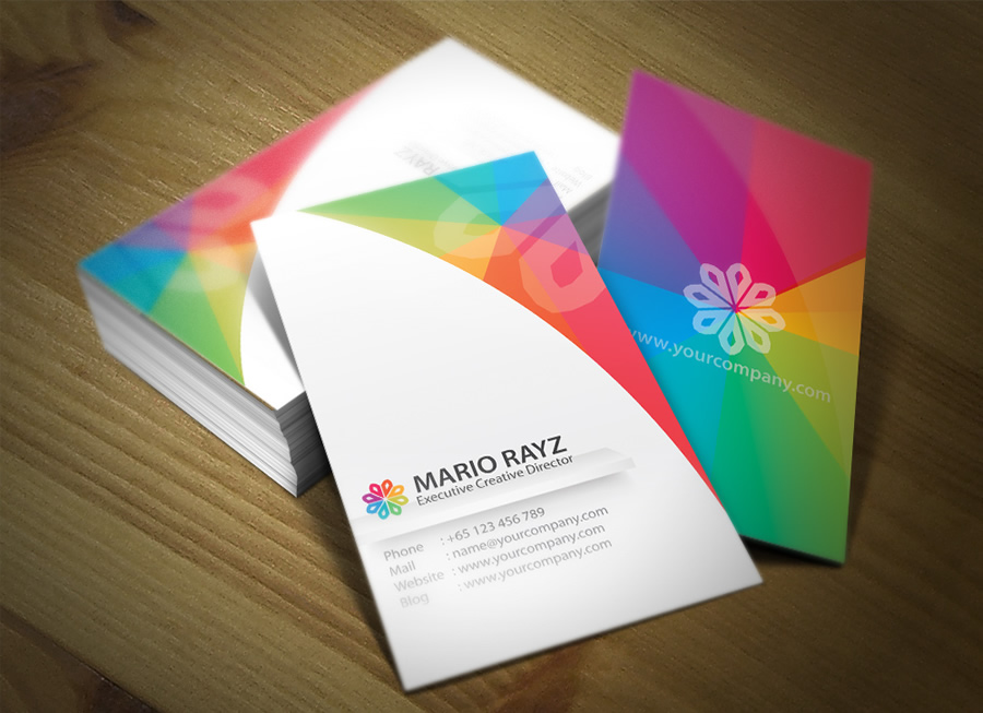 Rainbow petals business card 3 by lemongraphic on deviantart rainbow petals business card 3 by lemongraphic reheart Images