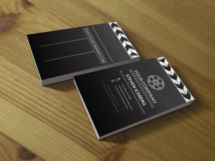 Film Director business card 3 by Lemongraphic on DeviantArt