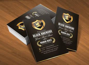 Black brewery business card v1
