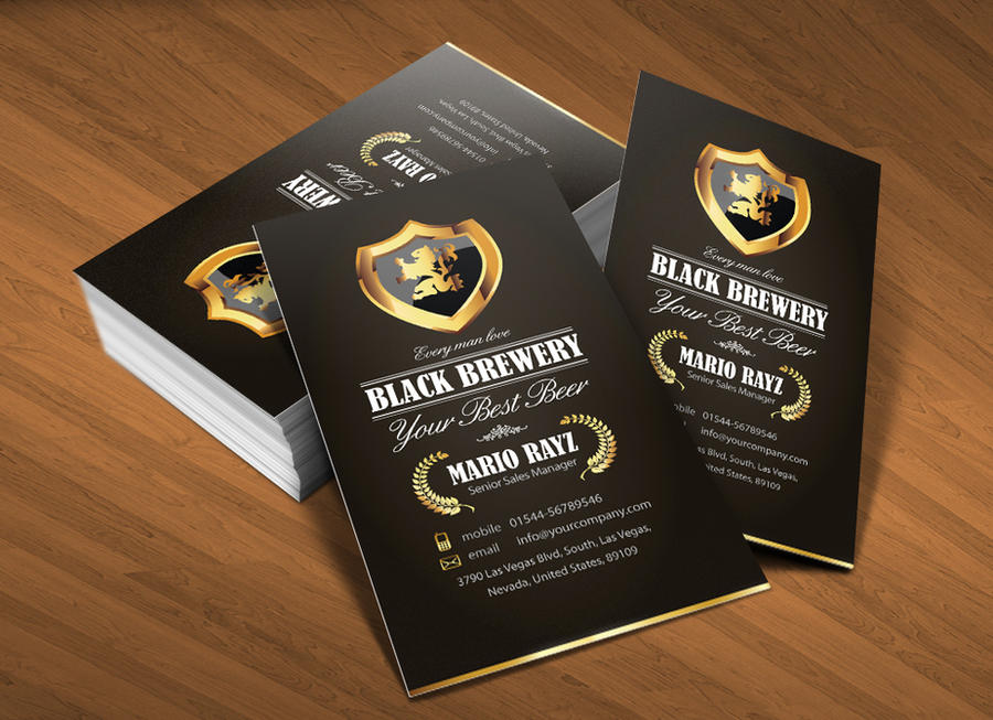 Black brewery business card v1 by *Lemongraphic