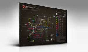 Subway infographic design mock